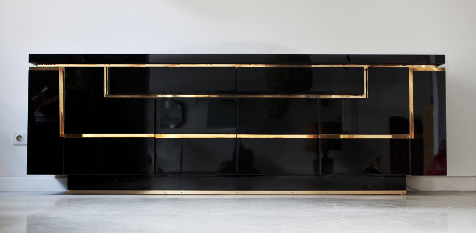 sideboard by jean claude mahey france 1970 s schlicht designm bel. Black Bedroom Furniture Sets. Home Design Ideas