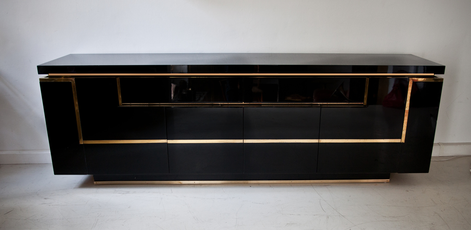 Sideboard by jean claude mahey france 1970 s schlicht for Sideboard hochglanz