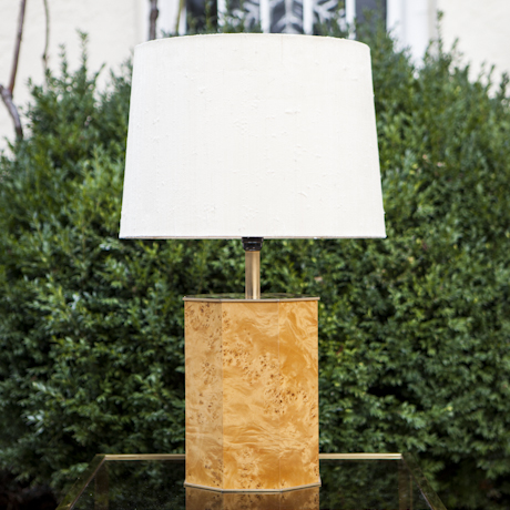 French_Burlwood_Table_Lamp_1970