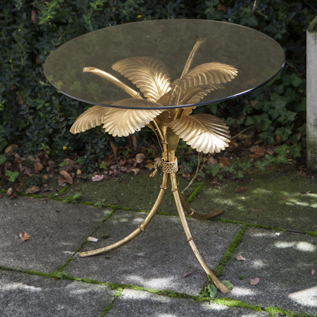 Golden_Palm_Side_Table_Italy_1950