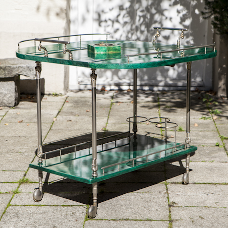 Tura_Lacquered_Goatskin_Bar_Cart_With_Fold_Up_Sides_460px