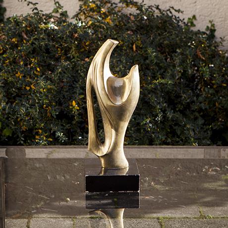 Alain_Chervet_Brass_Sculpture_Skulptur