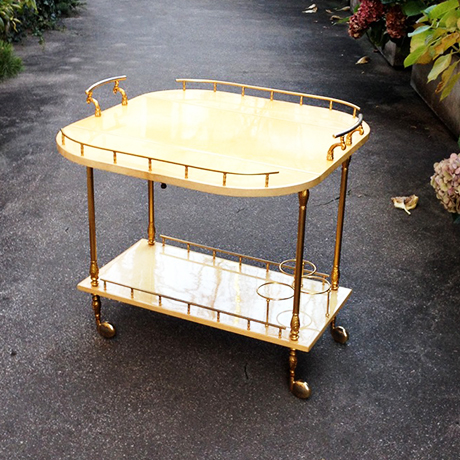 Aldo_Tura_Goatskin_Bar_Cart_With_Fold-Up_Sides_Cream