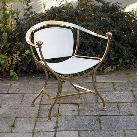 Golden_Donghia_Armchair_White_Leather_Leder