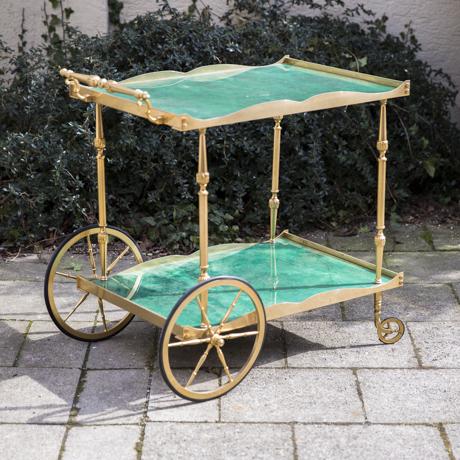 Aldo_Tura_Bar_Cart_Turquoise_Goatskin
