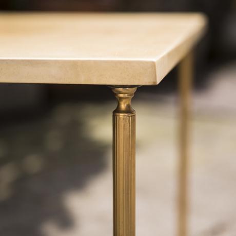 Aldo_Tura_Side_Table_Cream_Goatskin_Cremefarben