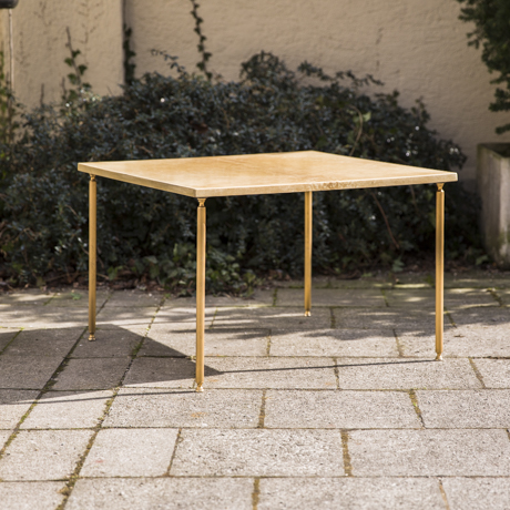 Aldo_Tura_Side_Table_Cream_Goatskin_Ziegenleder