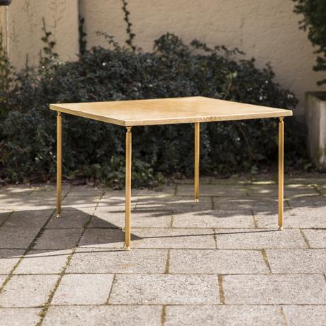 Aldo_Tura_Side_Table_Cream_Goatskin_Ziegenleder