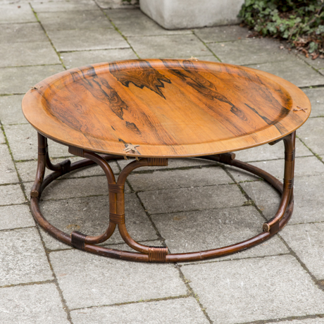 Rosewood_Coffee_Table_Bamboo_base_Holz