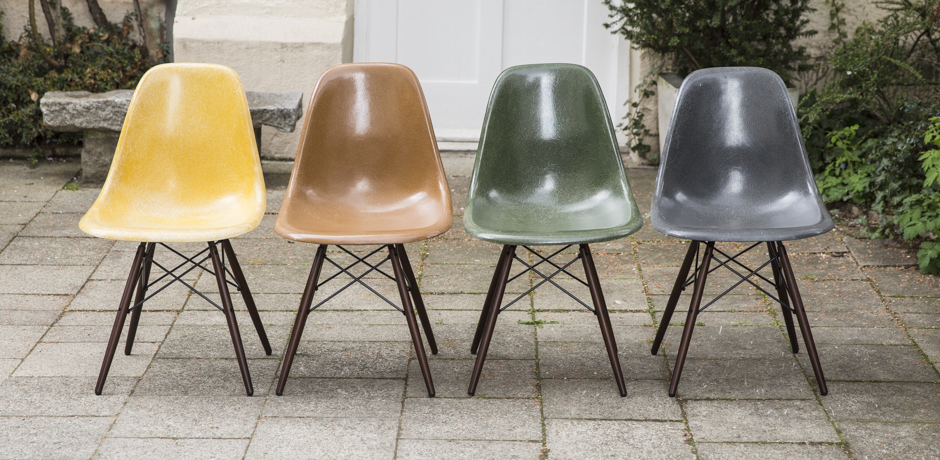 Eames Side Chair Dsw Fiberglass Set Of, Eames Side Chair Fiberglass