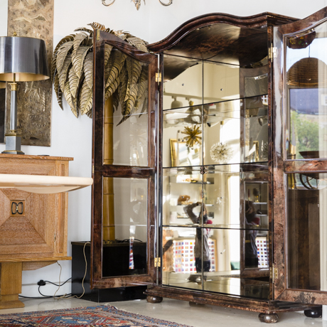 Goatskin_Elegant_Aldo_Tura_Glass_Mirror_Cabinet