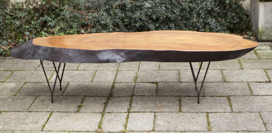 Tree Trunk Coffee Table 1960 Very Huge Tree Trunk Coffee Table France