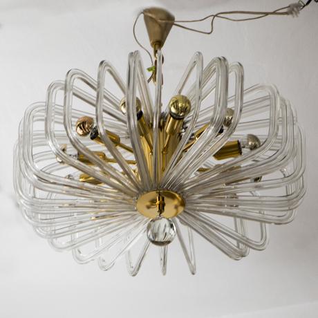 Crystal_Glass_Chandelier_Modernist_Bakalowits
