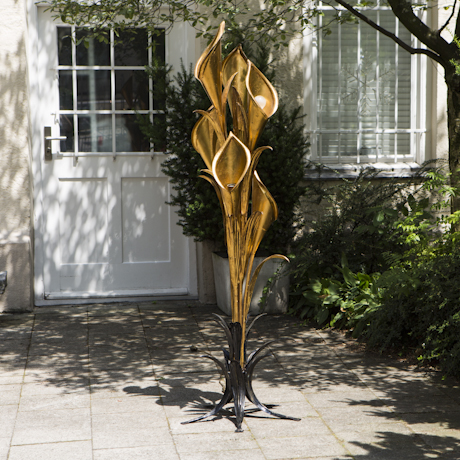 Golden_Calla_Flower_Floor_Lamp_France