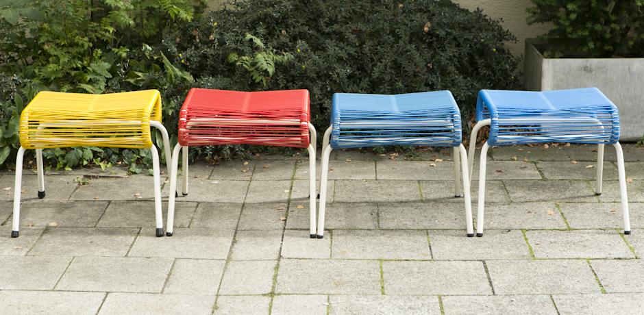 red_blue_yellow_garden_stools