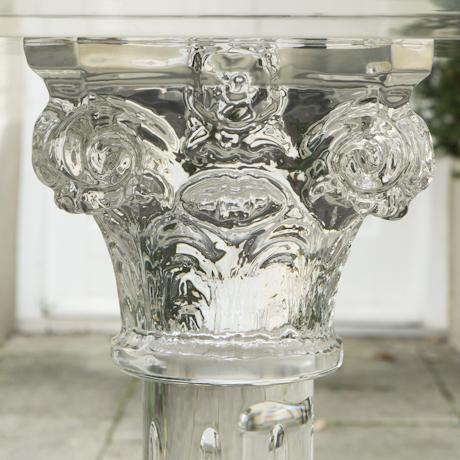 green_glass_top_column_table