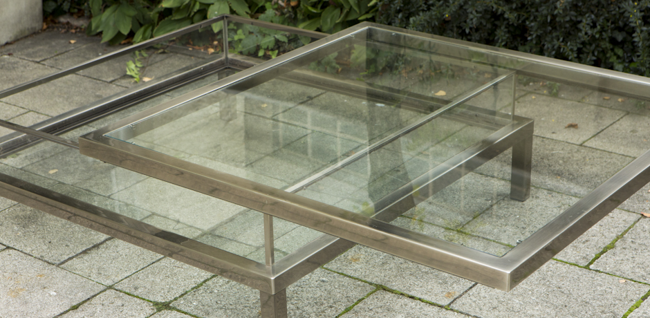glass_steel_retractable_coffee_table