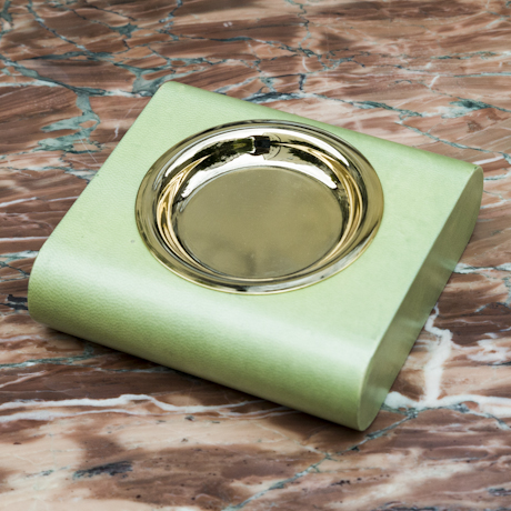 Aldo_Tura_Ashtray_Green_Goatskin_460px_01