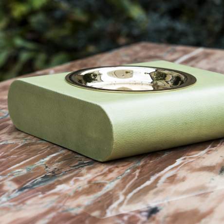Aldo_Tura_Ashtray_Green_Goatskin_