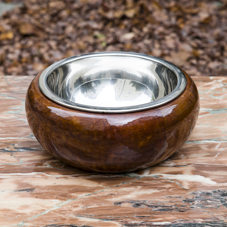 Aldo_Tura_Fruit_Bowl_Brown_Goatskin_ashtray