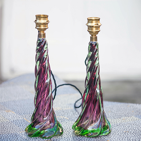 Italian_Murano_Table_Lamps_Purple_Green_Glass_460px