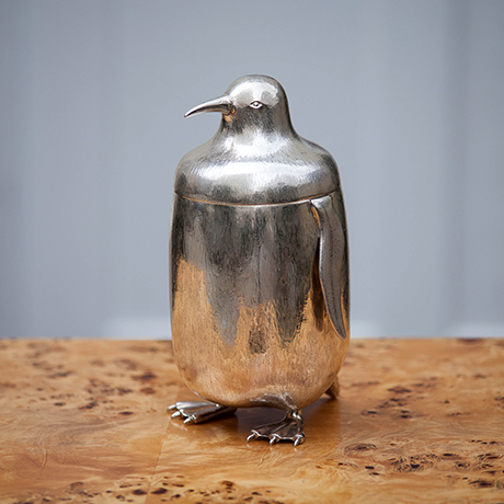 Schlichtes Designsterling_silver_penguin_ice_bucket_1