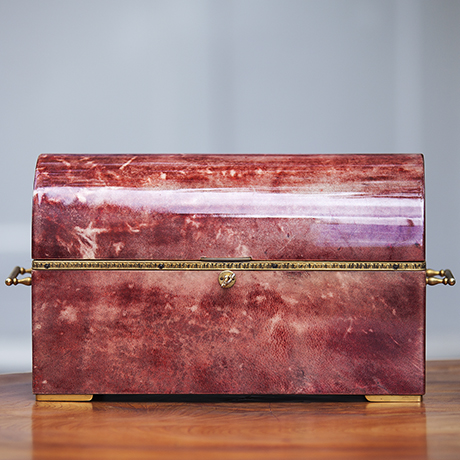 Aldo_Tura_Red Goatskin_Treasure_Box