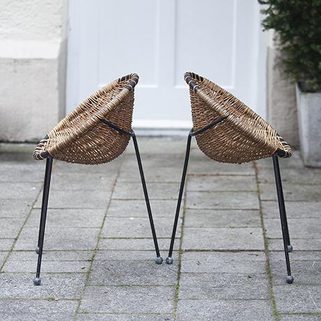 Basket_Chairs  Jean_Royere_Stühle_french_design_französisch_franzoesisch_interior_seating