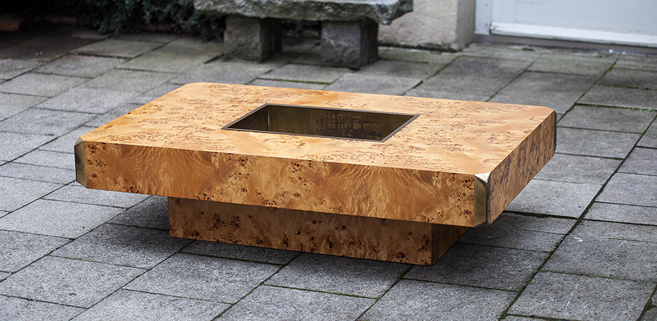Willy_Rizzo_Coffee_Table_Alveo_Burl_Wood_1973