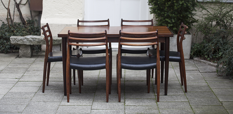 Schlichtes DesignDining_Room_Set_Moeller_Danish_Rosewood_Six_Chairs_1