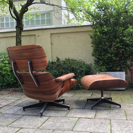 Charles eames lounge chair rosewood brown leather for Designer sessel charles eames