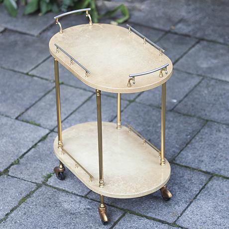 aldo_tura_bar_cart_creme_oval_italian_interior_design_goatskin_barwagen