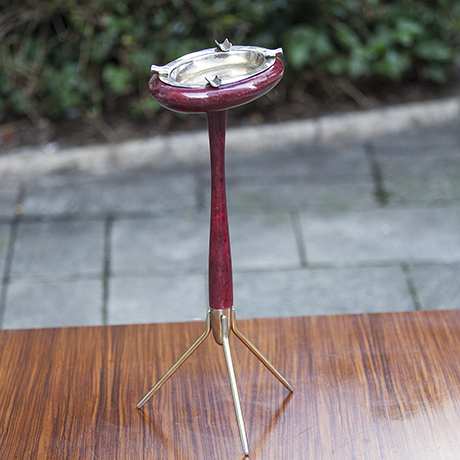 aldo_tura_standing_ashtray_red_