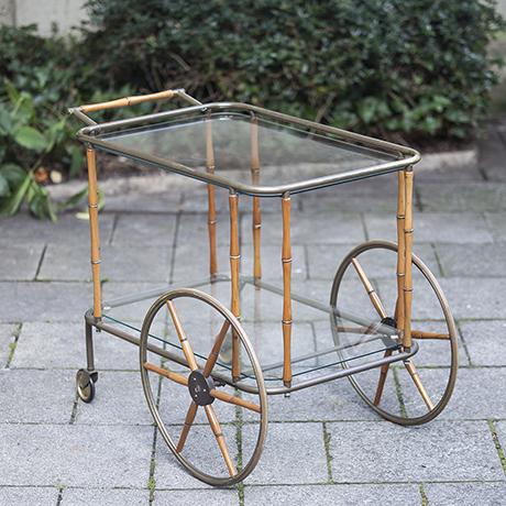 bar_cart_bamboo_brass_maison_jansen_design_barwagen
