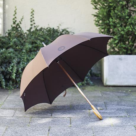piero_fornasetti_umbrella_brown_italian_design_burl_polyester_regenschirm