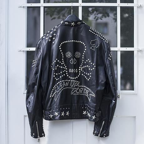 leather_jacket_Katherine_Hamnett_black_schwarz_jacke_leder_clean_up_or_die
