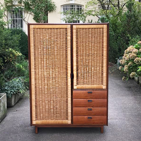 teak wardrobe by sebastian muggenthaler germany 1960. Black Bedroom Furniture Sets. Home Design Ideas