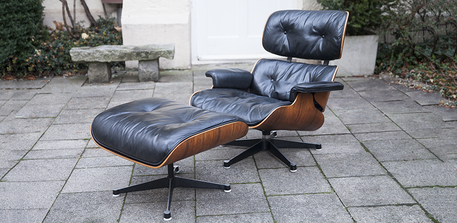 lounge chair charles eames rosewood down cushions 1968. Black Bedroom Furniture Sets. Home Design Ideas