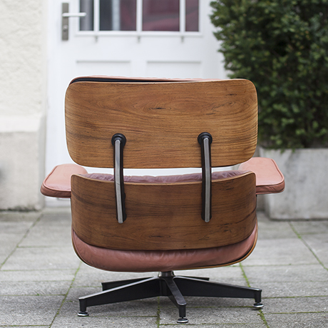 charles eames lounge chair 670 red brown leather herman miller 1972