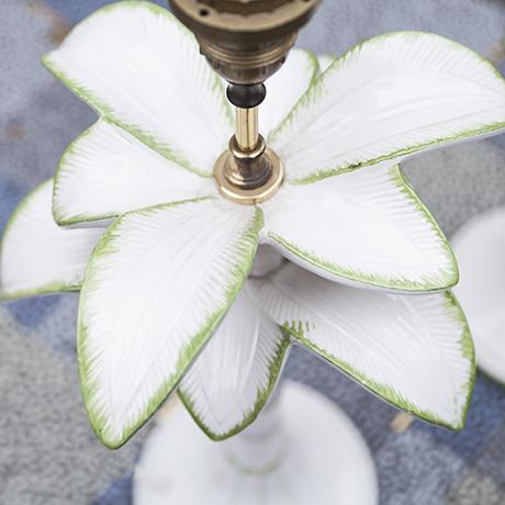 Porzellan_Tischlampe_Lampe_Palme