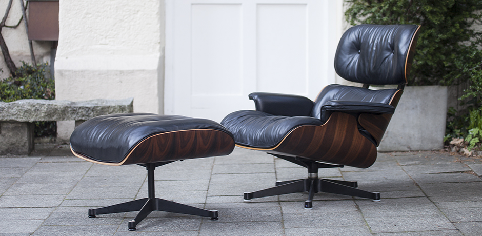 Charles Eames Lounge Stoel.Charles Eames Lounge Chair 670 With Ottoman 671 From 1980 Schlicht