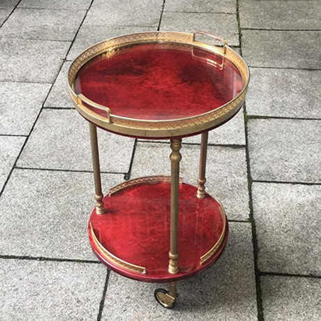 Schlichtes DesignAldo_Tura_bar_cart_red