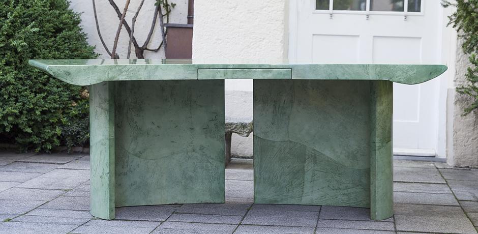Tura_goatskin_light_green_table