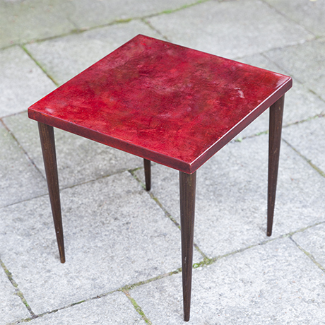 Aldo_Tura_side_table_red
