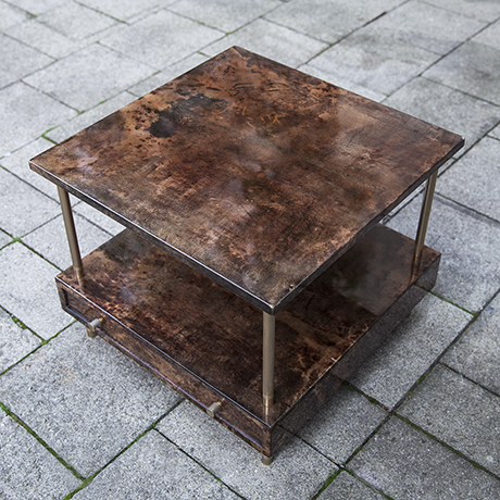 Aldo_Tura_table_brown_goatskin