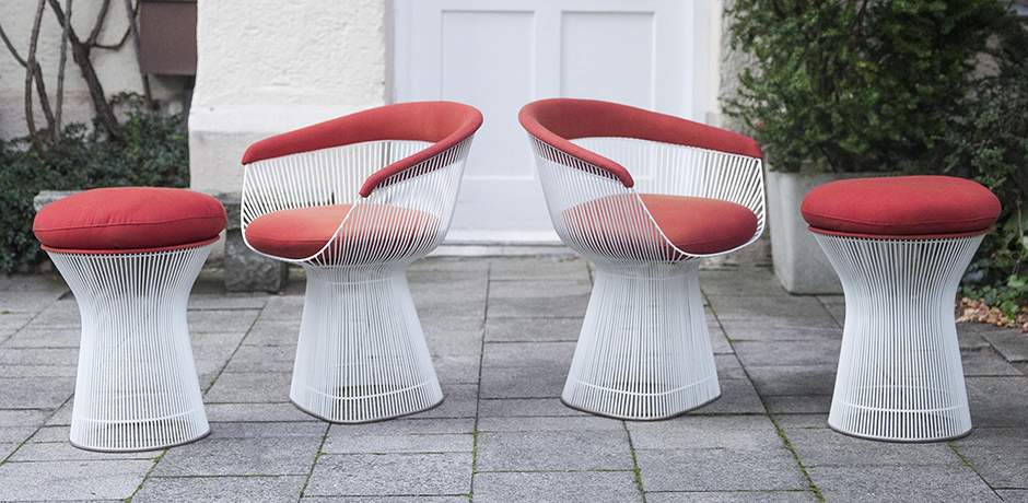 Platner_dining_chairs_stools