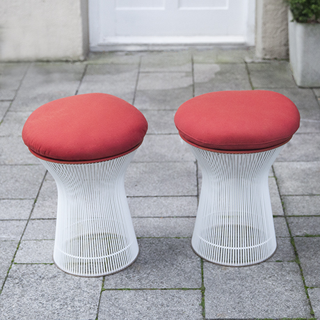 Platner_Knoll_stool_stools_red