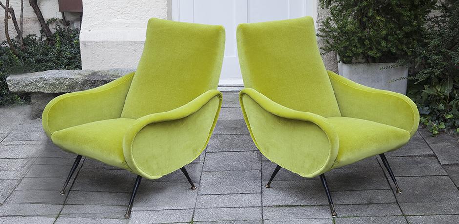 Zanuso_lime_armchair_green_italy