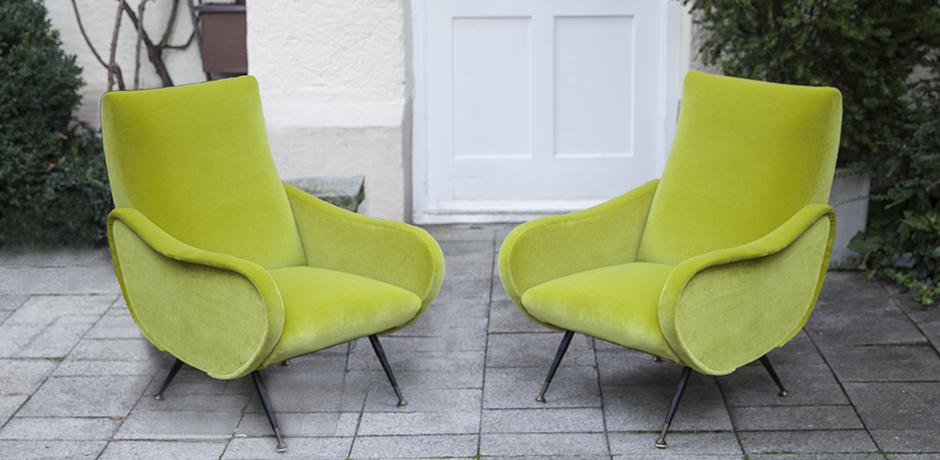Marco_Zanuso_lime_armchairs