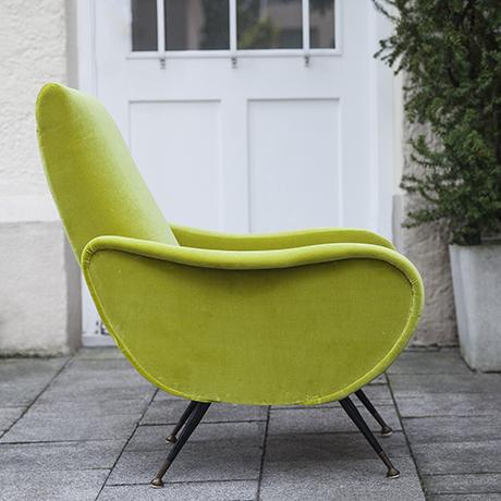 Zanuso_lime_armchair_Leliervre_Fabric
